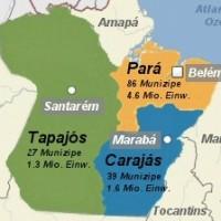 Brasilien: Pará stimmt über Aufteilung in drei Bundesstaaten ab