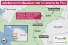 Jahrhunderthochwasser am Amazonas in Peru