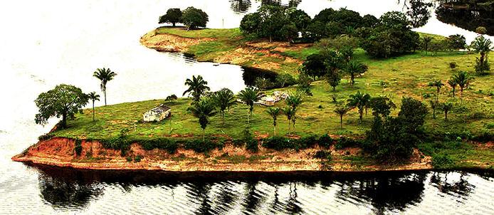 O rio Negro é o maior afluente da margem esquerda do rio Amazonas  Foto: Juca Varella/FOTOS PÚBLICAS